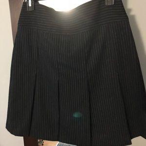 Burberry Skirt, black with gray pin stripes, sz 4
